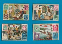 TRADE/ cigarette cards set Nugget Polish.World Stamps & postmen,